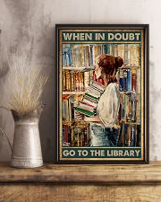 Librarian When In Doubt Go To The Library 11x17 Poster lifestyle-poster-3