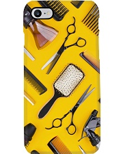 Hairdresser Tools In Yellow Background Phone Case i-phone-7-case