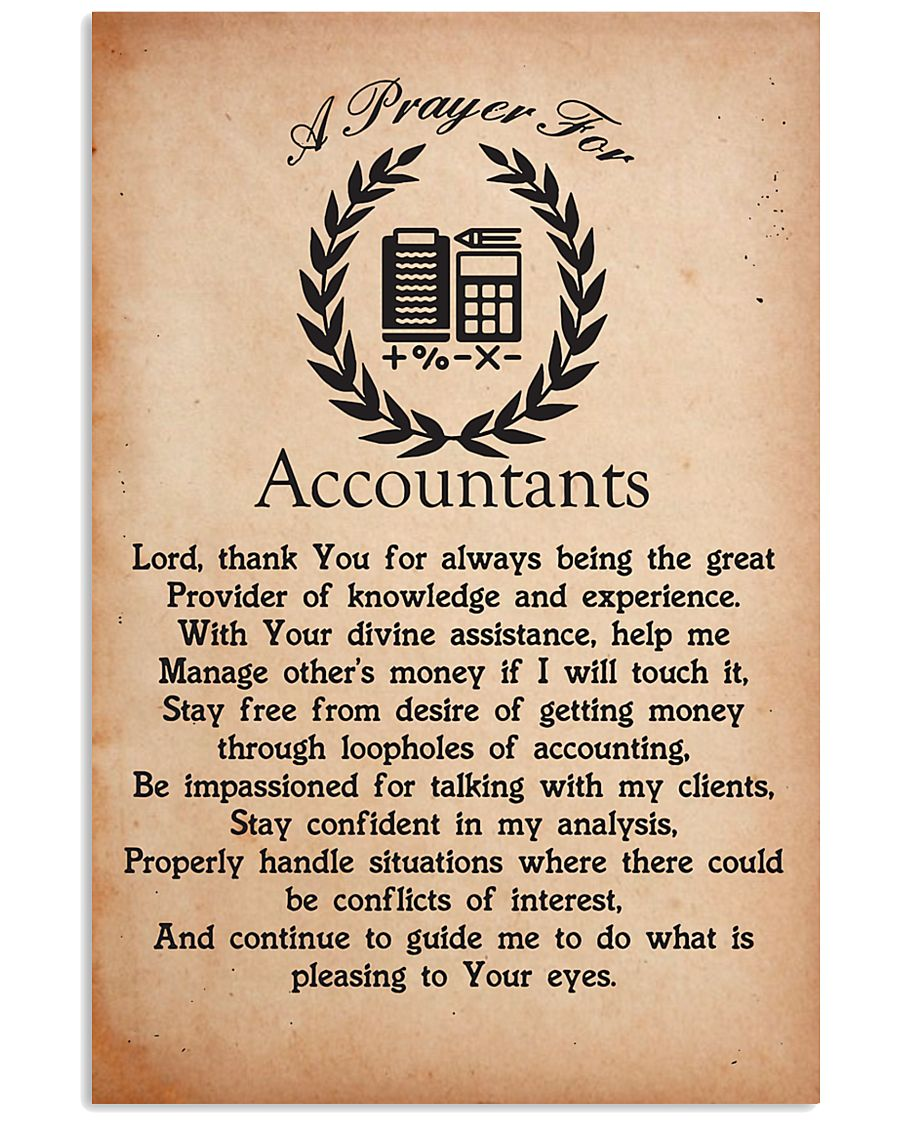 A Prayer for Accountants 11x17 Poster