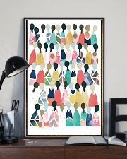 Social Worker Rainbow People 11x17 Poster lifestyle-poster-2