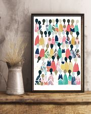 Social Worker Rainbow People 11x17 Poster lifestyle-poster-3