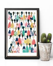 Social Worker Rainbow People 11x17 Poster lifestyle-poster-8