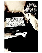 Pianist Gift Girl Playing Piano 11x17 Poster front