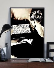Pianist Gift Girl Playing Piano 11x17 Poster lifestyle-poster-2