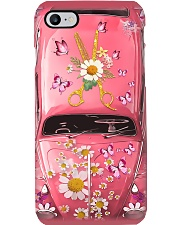 Hairdresser Gift Pink Daisy Butterfly Car Phone Case i-phone-7-case