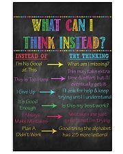 Think Instead Teacher  11x17 Poster front
