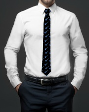 Ukulele Blue Paint Spatter Tie aos-tie-lifestyle-front-01