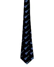 Ukulele Blue Paint Spatter Tie front