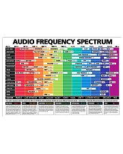 Drummer Audio Frequency Spectrum 17x11 Poster front