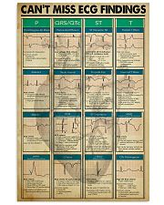 Paramedic Can't Miss ECG Findings 11x17 Poster front