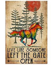 Horse Girl Live Like Someone Left The Gate Open 11x17 Poster front