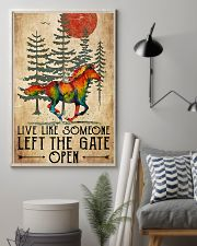 Horse Girl Live Like Someone Left The Gate Open 11x17 Poster lifestyle-poster-1