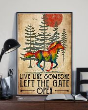 Horse Girl Live Like Someone Left The Gate Open 11x17 Poster lifestyle-poster-2