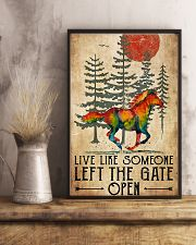 Horse Girl Live Like Someone Left The Gate Open 11x17 Poster lifestyle-poster-3