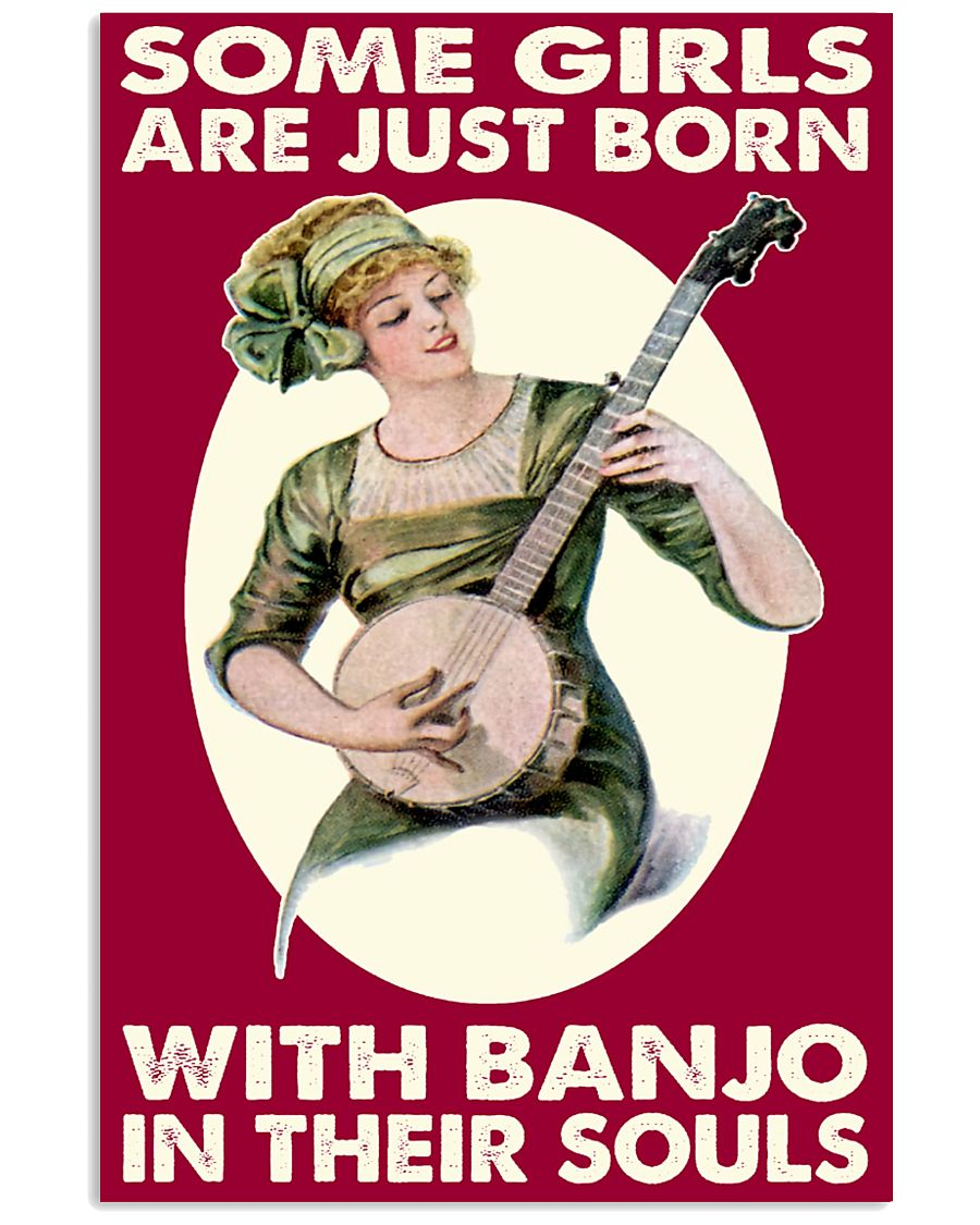 Girls With Banjo In Their Soul 11x17 Poster
