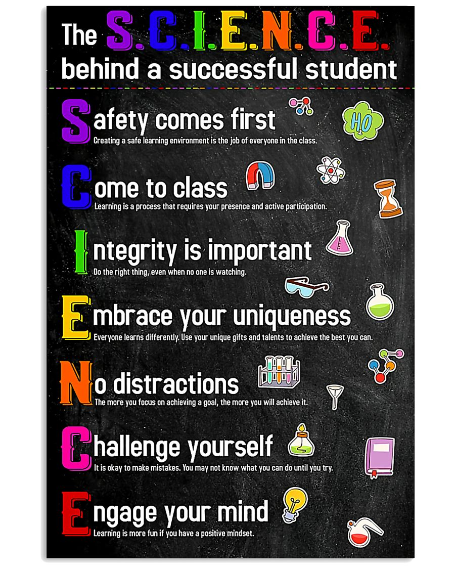 The Science Behind Successful Student Teacher  11x17 Poster