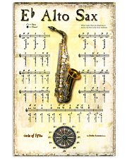 Saxophone Alto Sax 11x17 Poster front