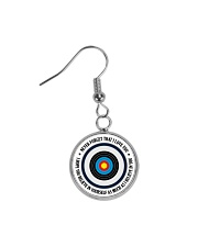 Archery Gift Never Forget That I Love You Circle Earrings thumbnail