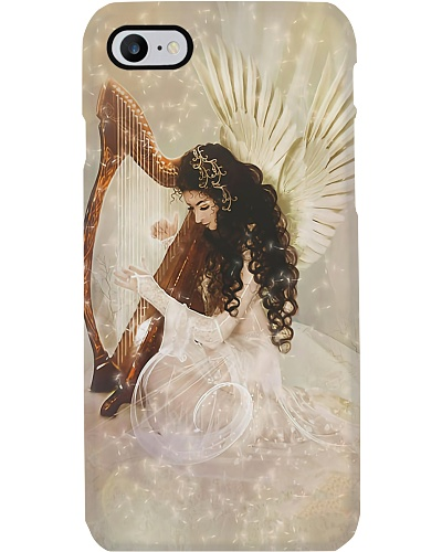 Beautiful Girl With Harp
