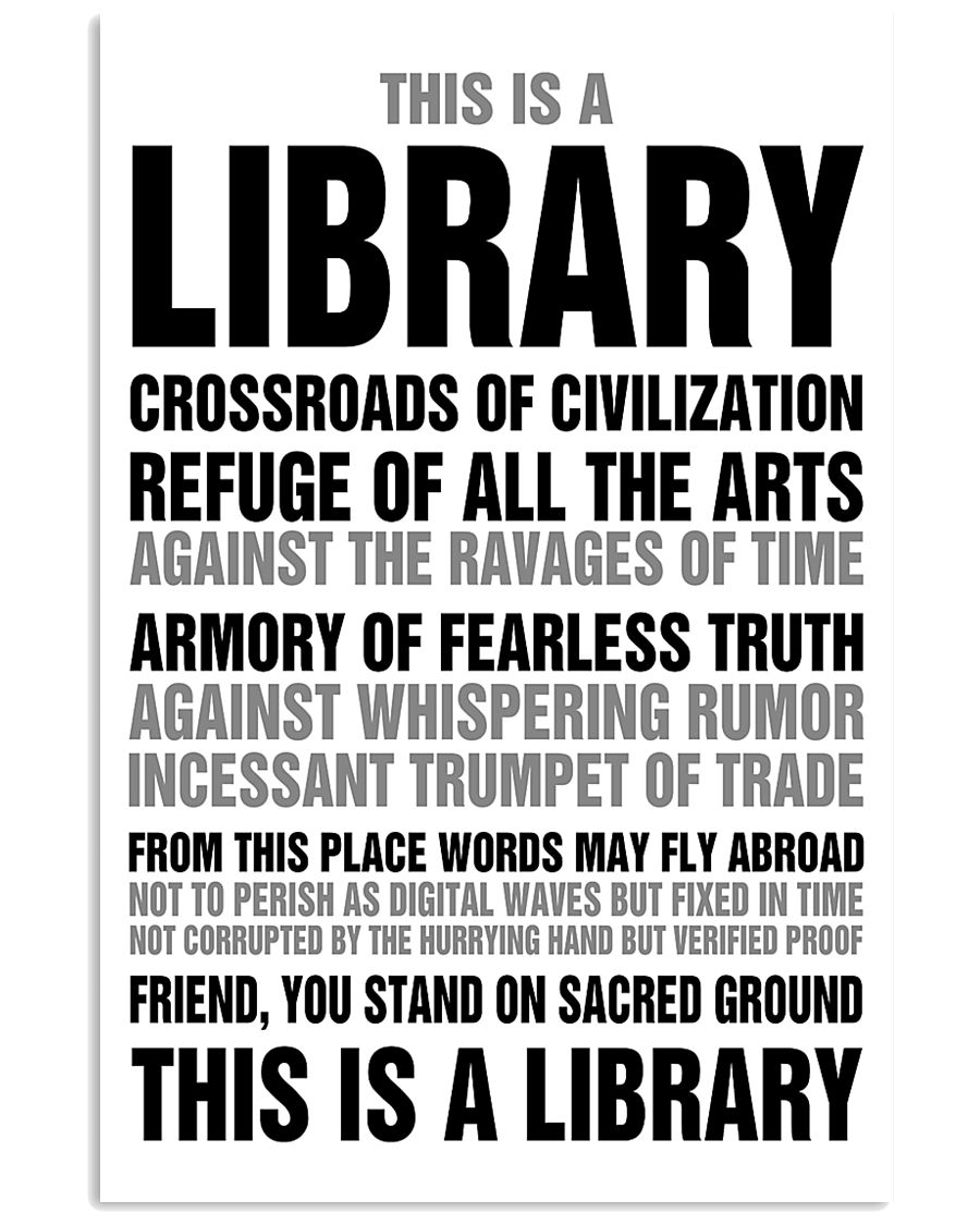 Librarian You Stand On Sacred Ground 11x17 Poster