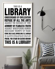 Librarian You Stand On Sacred Ground 11x17 Poster lifestyle-poster-1
