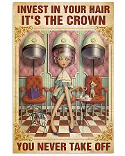 Hairdresser Crown You Never Take Off 11x17 Poster front