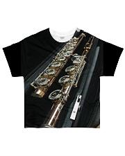 3D Art Black Flute  All-over T-Shirt front