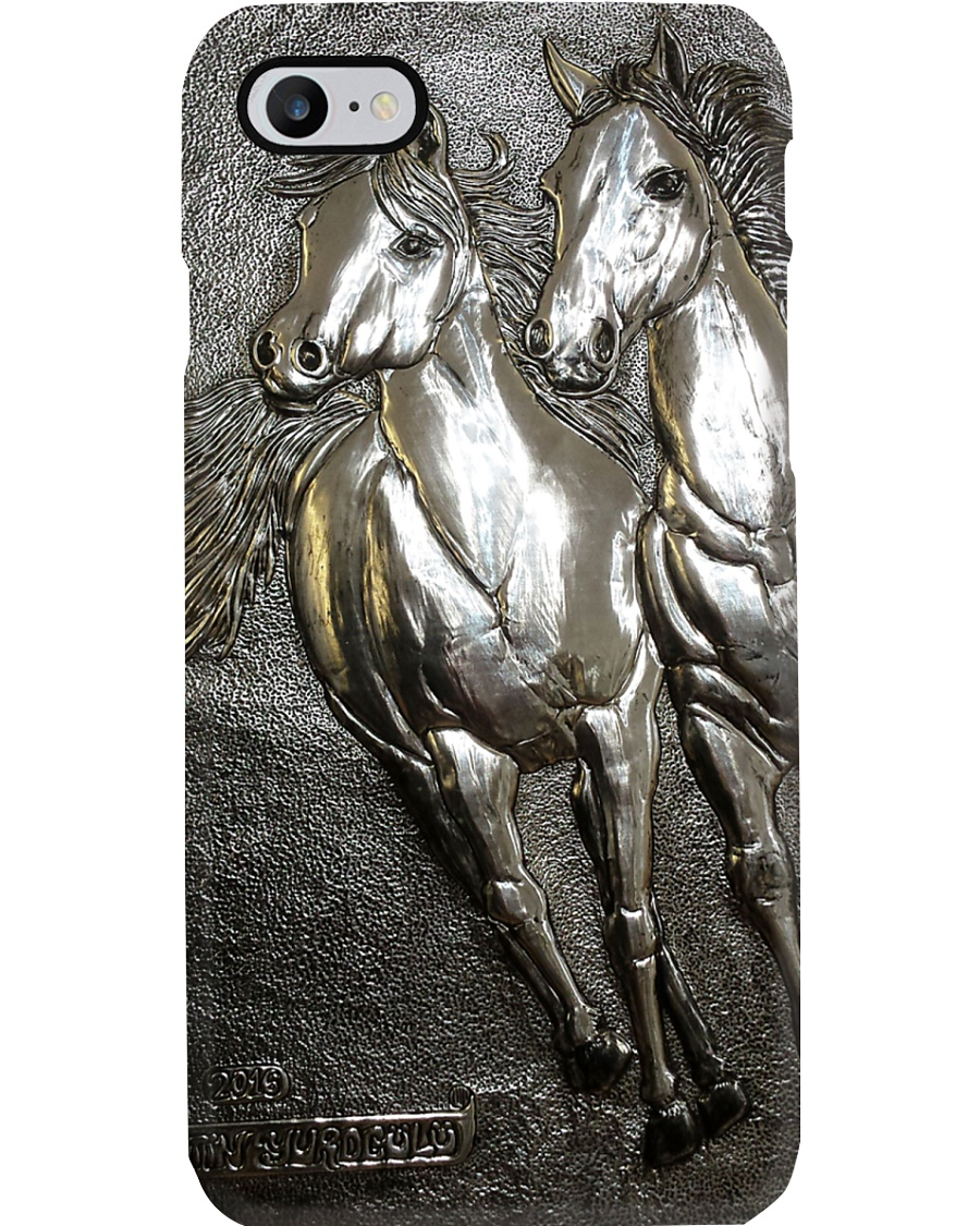 Horse Girl Gift Couple Horses Phone Case