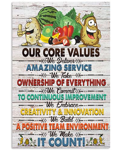 Dietitian Our core value Poster