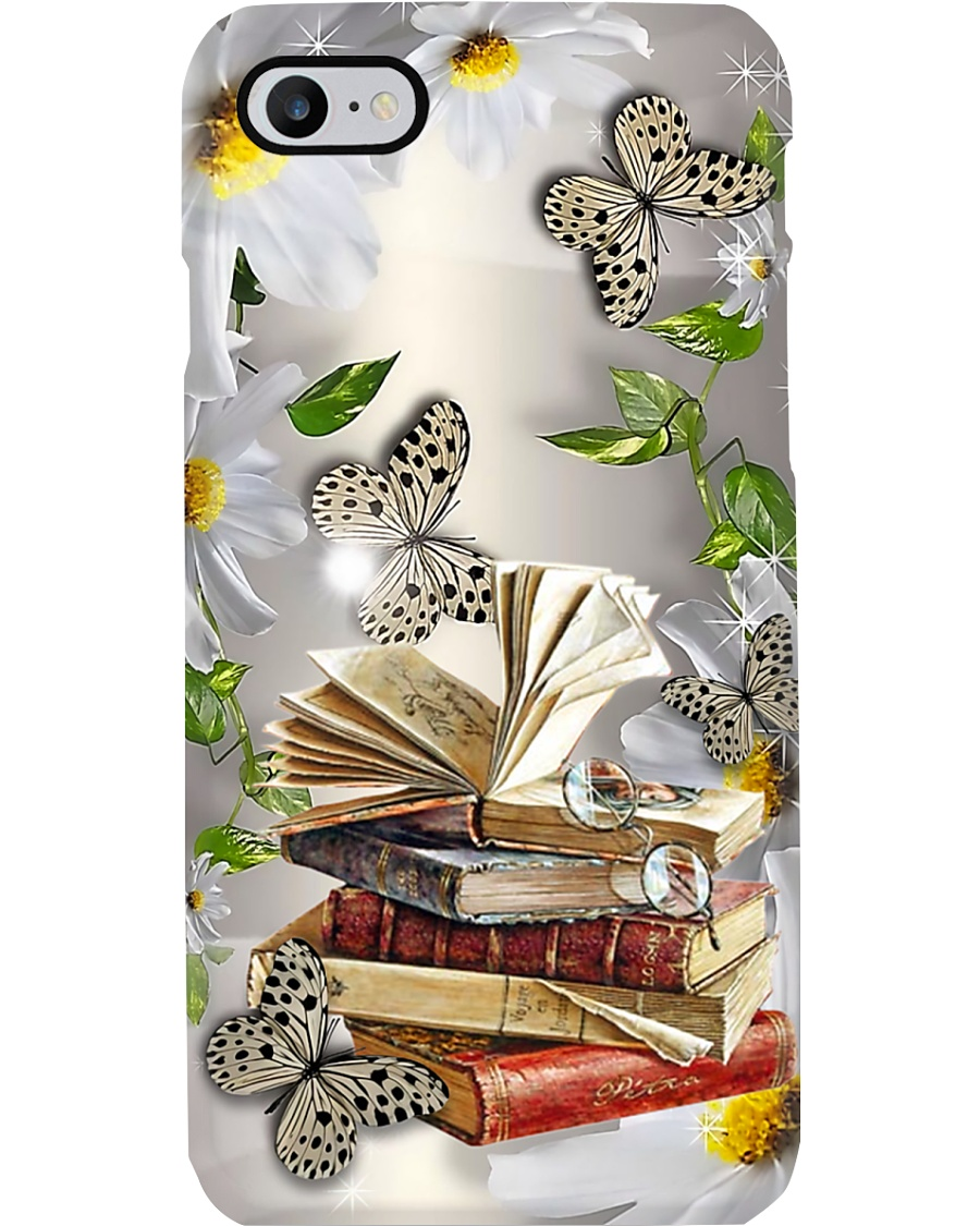 Librarian Books With Daisy And Butterfly Phone Case