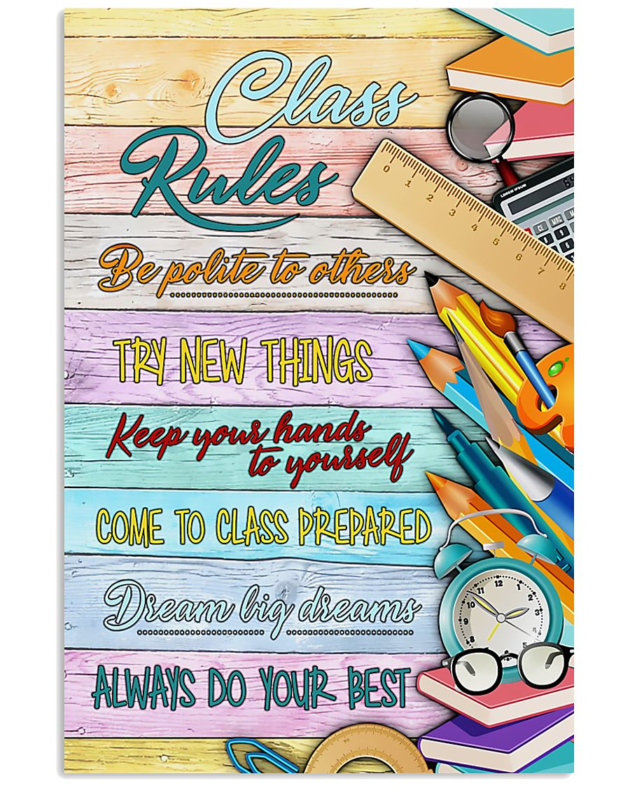 Teachers Class Rules  11x17 Poster