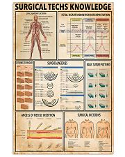 Surgical Techs Knowledge 11x17 Poster front