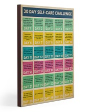 Social Worker 30 Day Self-Care Challenge  20x30 Gallery Wrapped Canvas Prints thumbnail