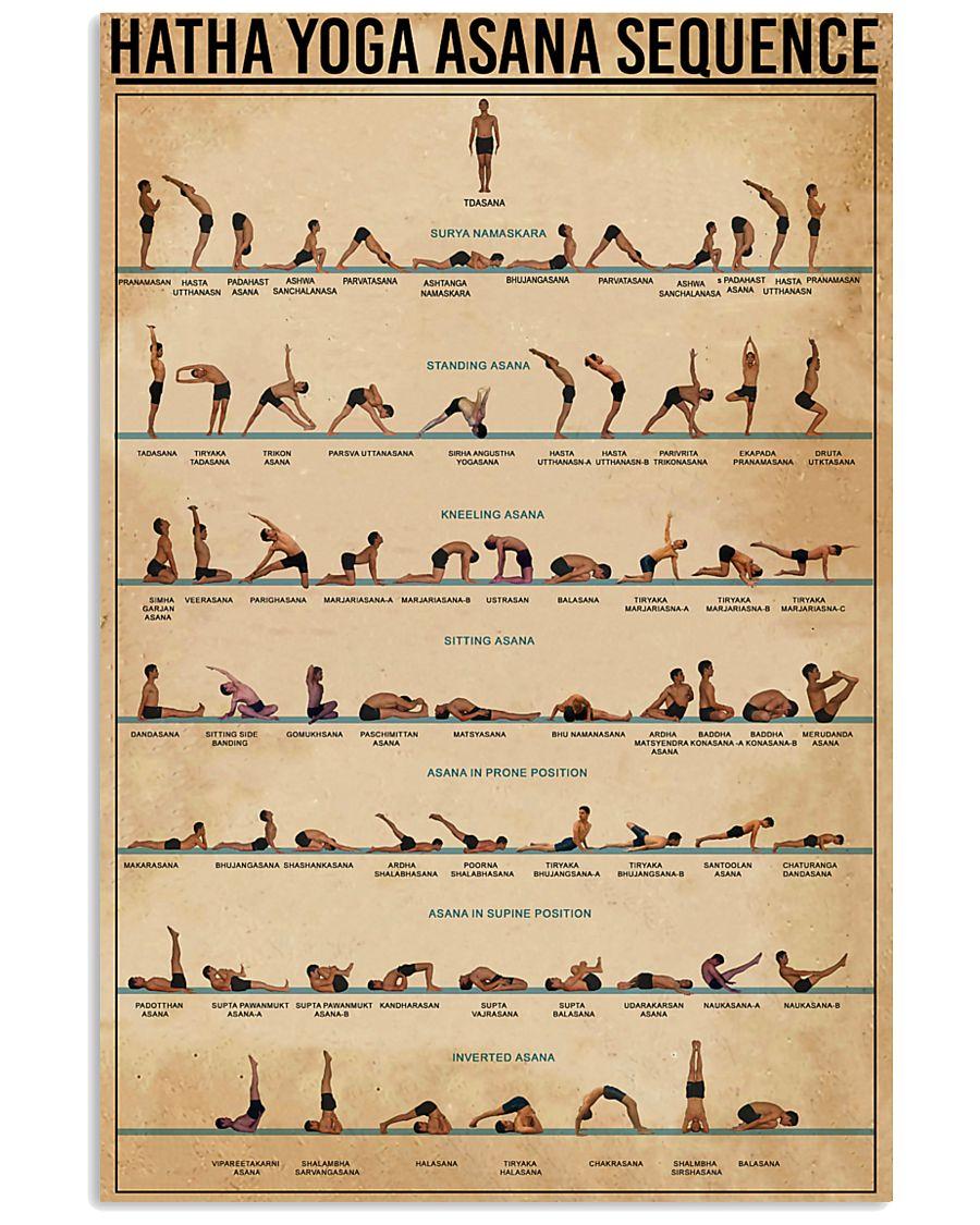 Hatha Yoga Asana Sequence 11x17 Poster