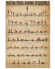 Hatha Yoga Asana Sequence 11x17 Poster front