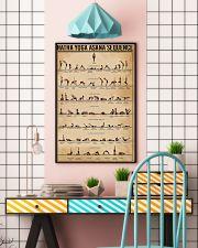 Hatha Yoga Asana Sequence 11x17 Poster lifestyle-poster-6