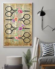 Flower Vintage Scissors Hairdresser 11x17 Poster lifestyle-poster-1