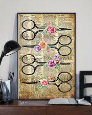 Flower Vintage Scissors Hairdresser 11x17 Poster lifestyle-poster-2
