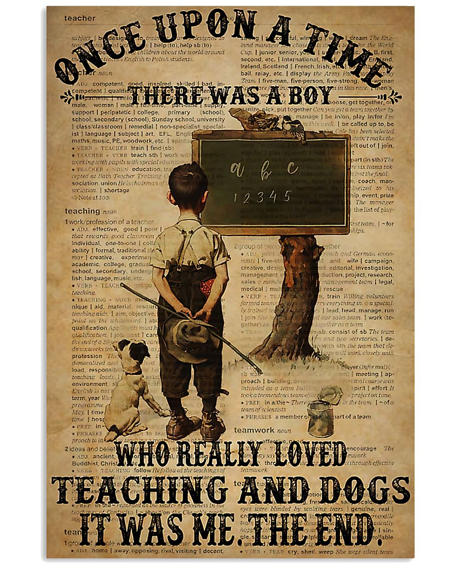 Teacher Boy Loved Teaching And Dogs 11x17 Poster