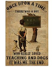 Teacher Boy Loved Teaching And Dogs 11x17 Poster front