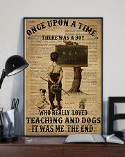 Teacher Boy Loved Teaching And Dogs 11x17 Poster lifestyle-poster-2