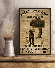 Teacher Boy Loved Teaching And Dogs 11x17 Poster lifestyle-poster-3