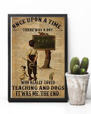 Teacher Boy Loved Teaching And Dogs 11x17 Poster lifestyle-poster-8