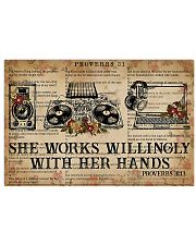 DJ She works willingly with her hands 17x11 Poster front
