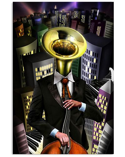Tubist in the city Poster