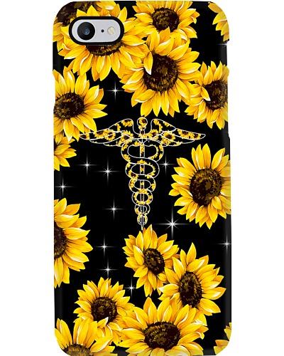 Respiratory Therapist Caduceus Sunflowers