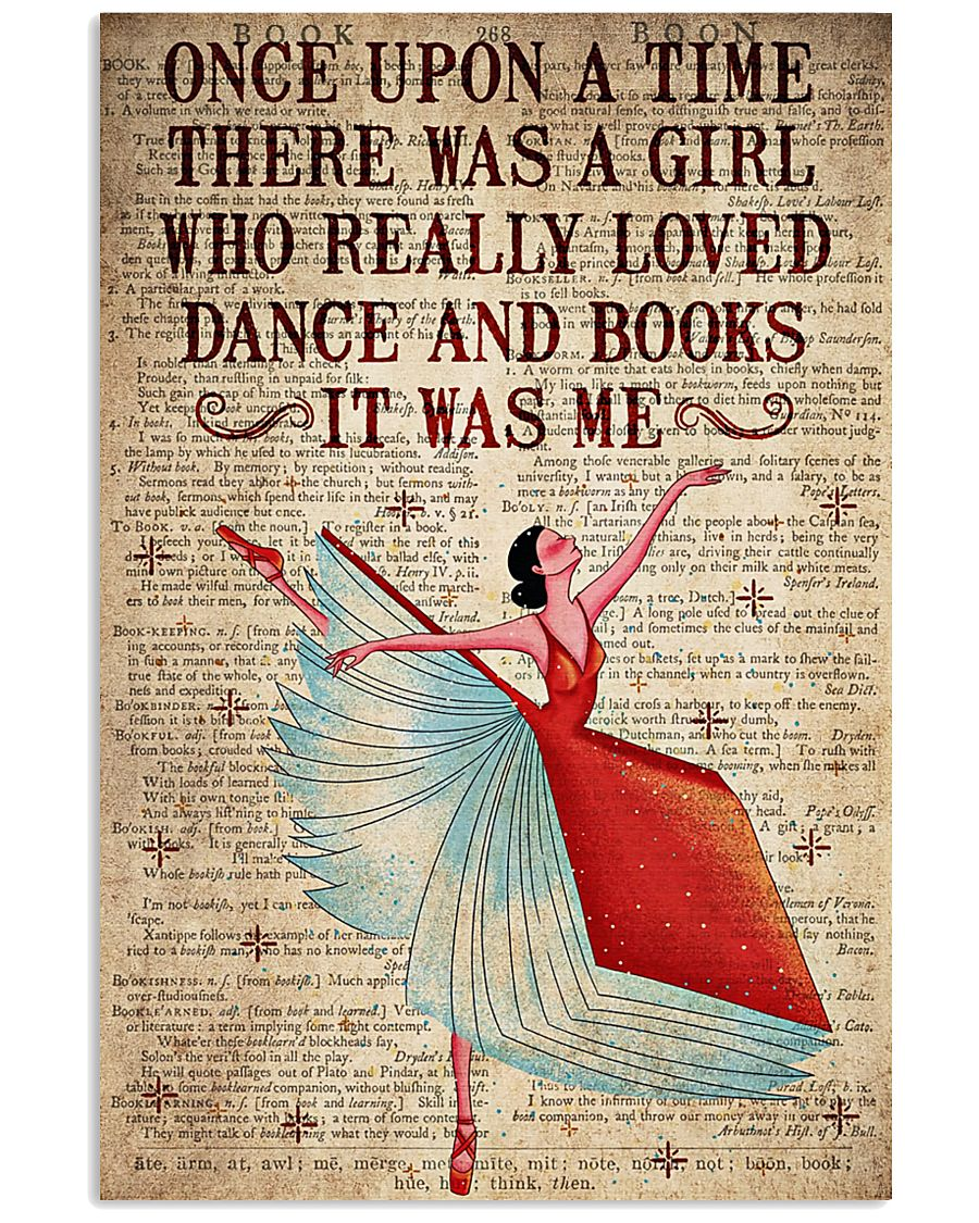 There Was A Girl Who Really Loved Dance And  Books 11x17 Poster