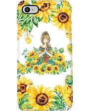 Yoga Sunflower  Phone Case i-phone-8-case