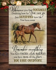 Horse Girl Remember Everything You Have Overcome  11x17 Poster aos-poster-portrait-11x17-lifestyle-22