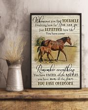 Horse Girl Remember Everything You Have Overcome  11x17 Poster lifestyle-poster-3